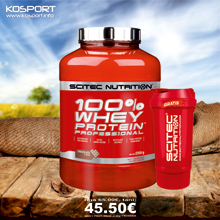 100% WHEY PROTEIN PROFESSIONAL 2.3kg + Travel Shaker